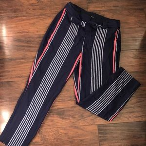 Express striped trousers